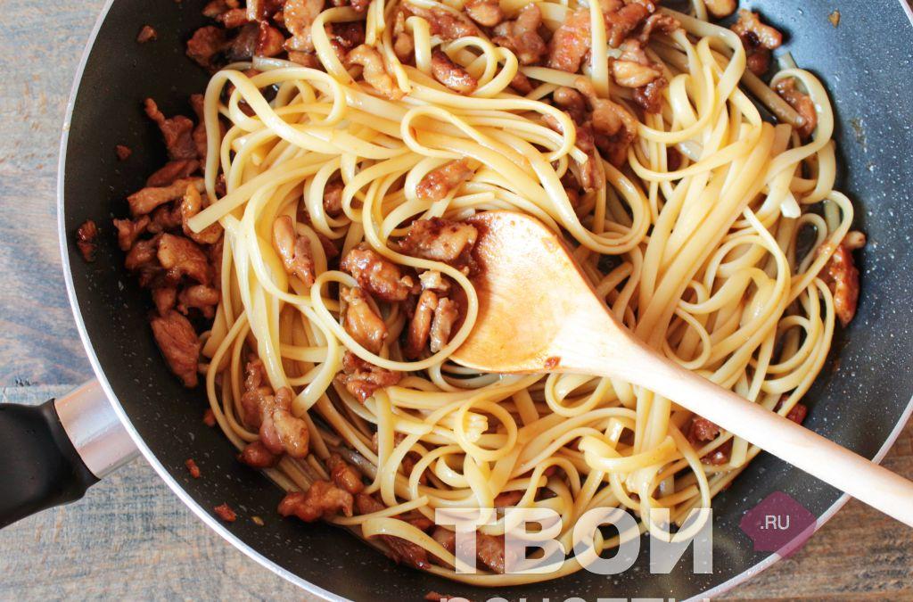 Рецепт спагетти с пошагово