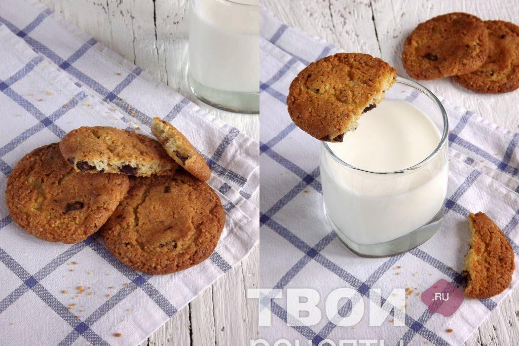 печенье с кунжутом рецепт и шоколадом с фото