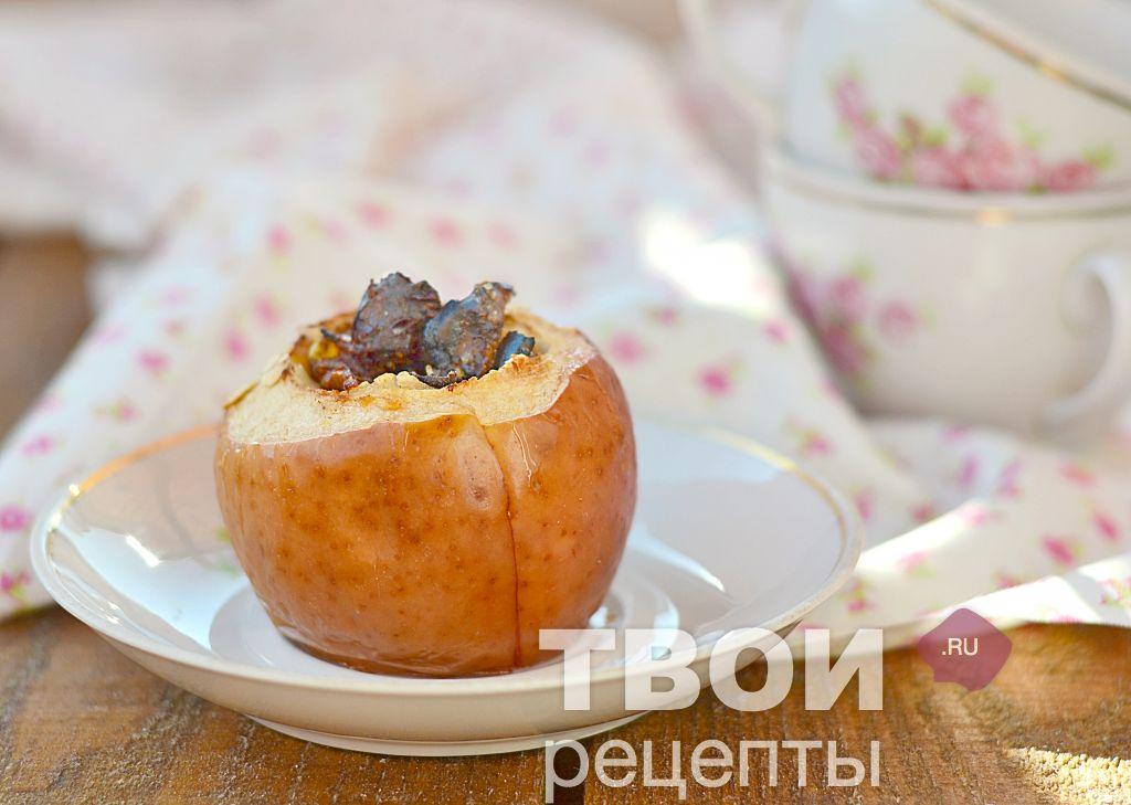 рецепт печеные яблоки в духовке с корицей рецепт