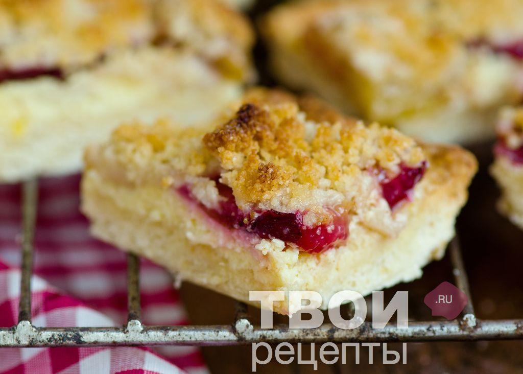 Пирог с творожной начинкой рецепт пошагово