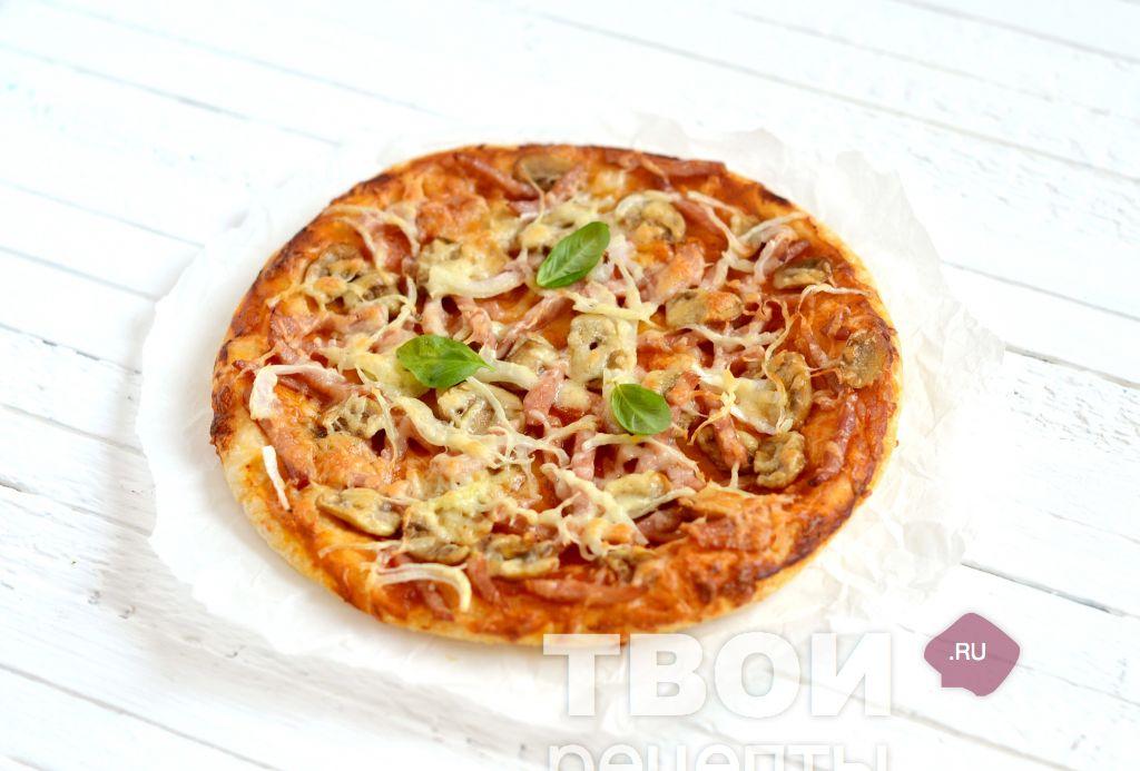 рецепт пиццы грибы ветчина #10