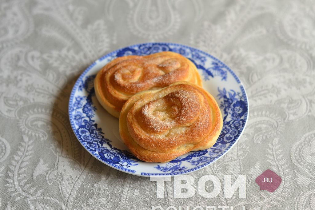 Вкусные плюшки с сахаром рецепт с фото