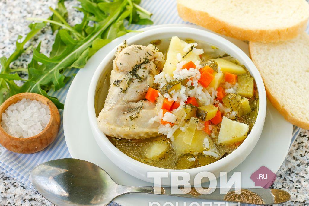 суп рассольник на курином бульоне рецепт с фото