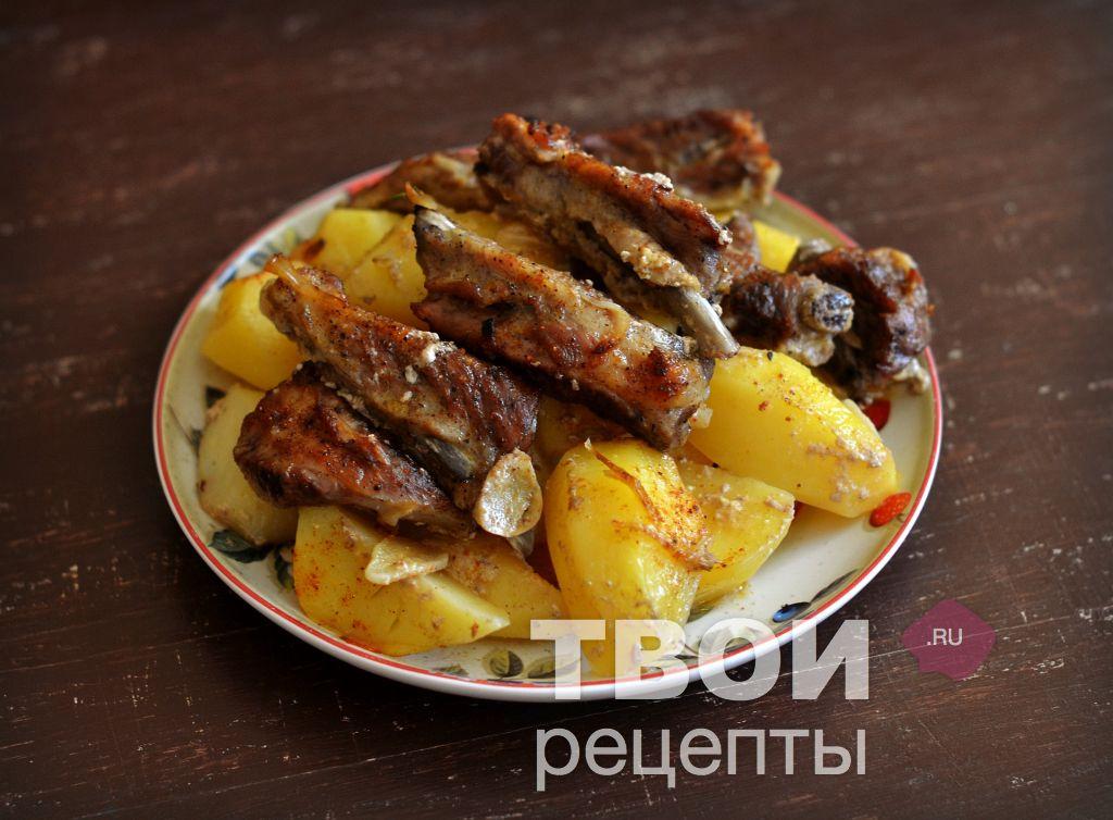 жаркое из свиных ребрышек с картошкой рецепт с фото