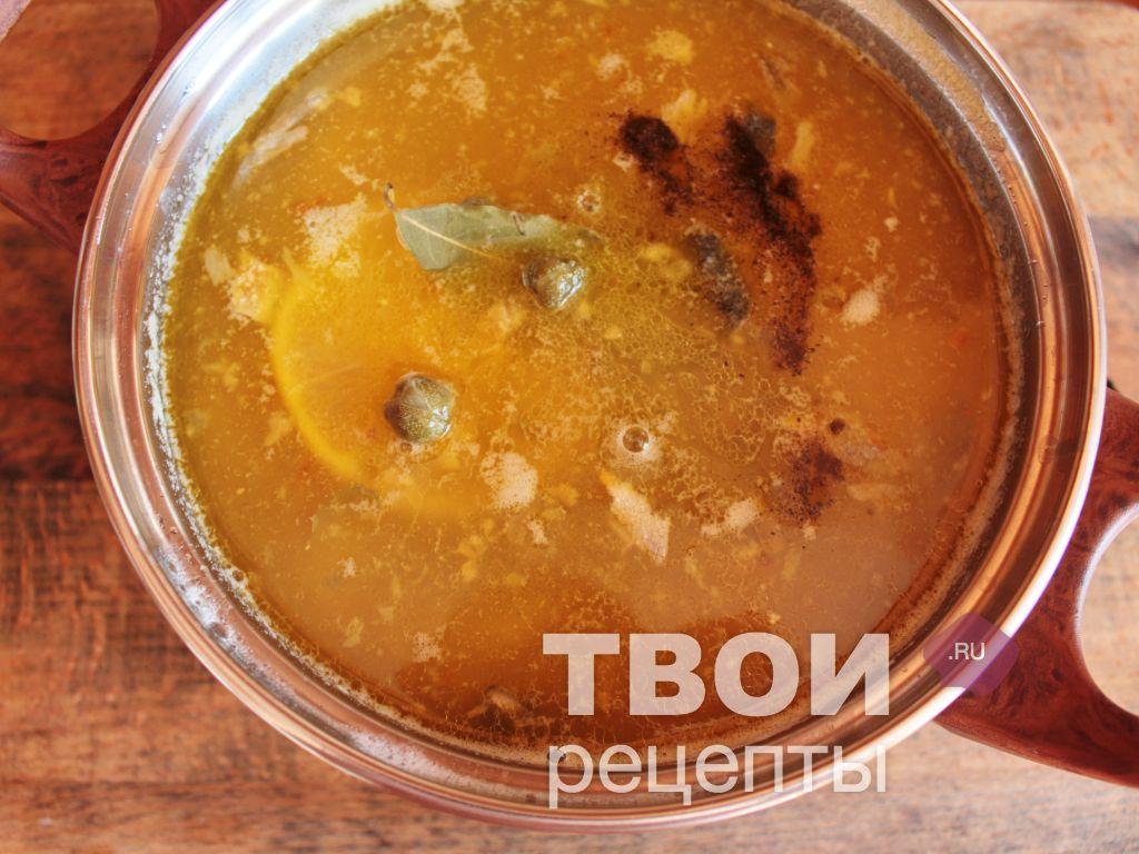 рыбный суп с каперсами рецепт