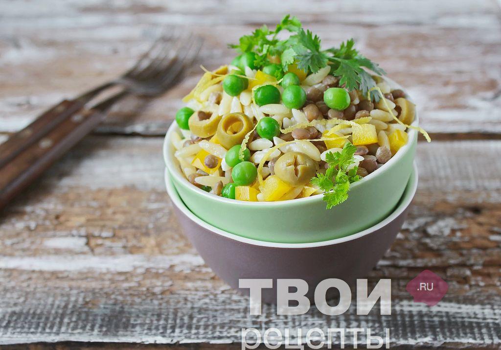 салат из чечевицы простые рецепты