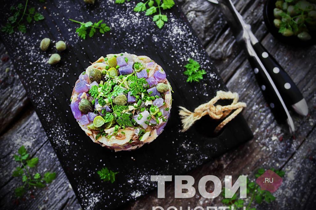 рыбы салат с майонезу рецепт