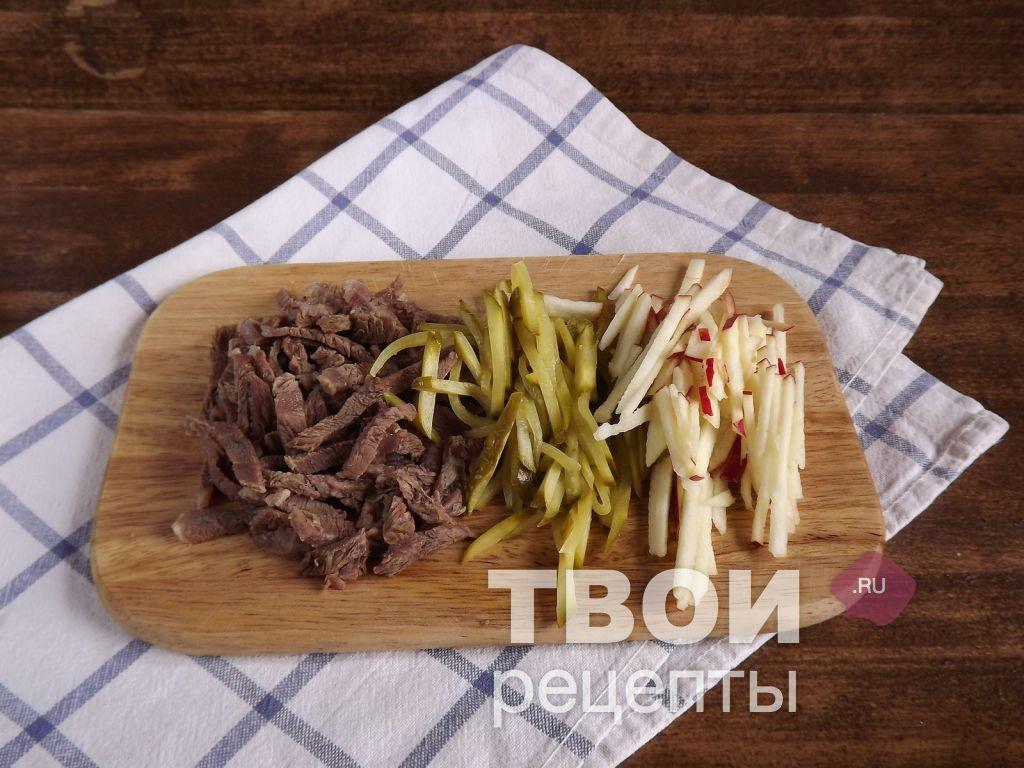рецепты салатов рецепты с фото с мясом