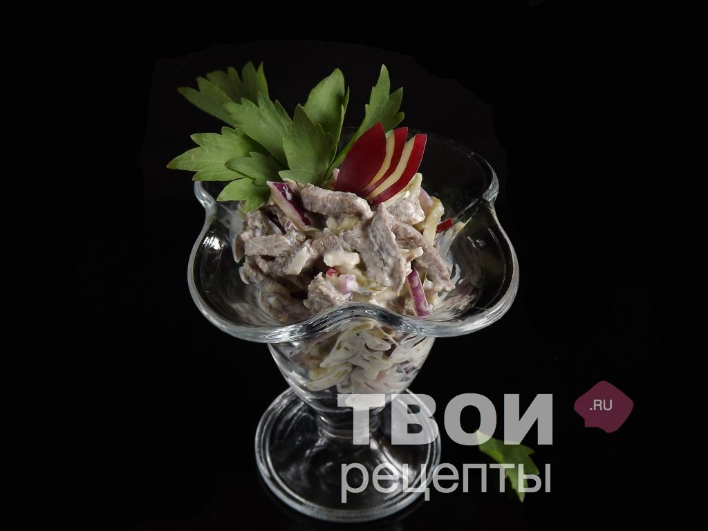салат с говядиной терияки рецепт