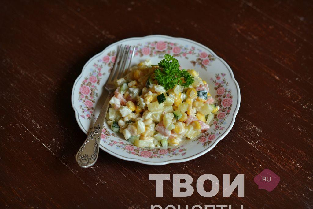 простые салаты с крабовым мясом рецепты