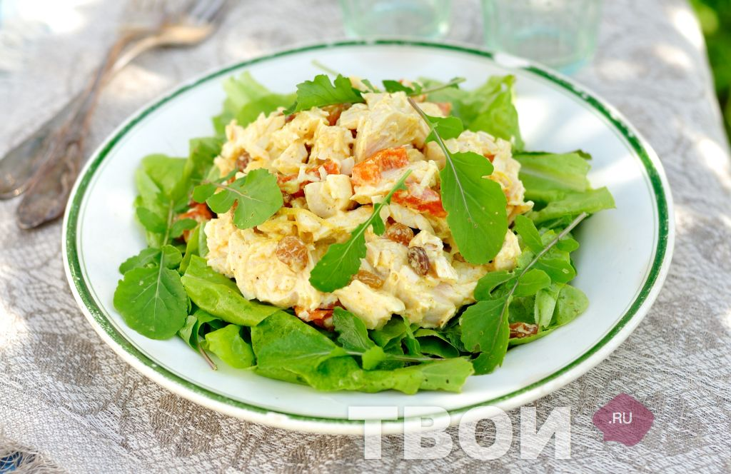 Как сделать вкусный салат с курицей