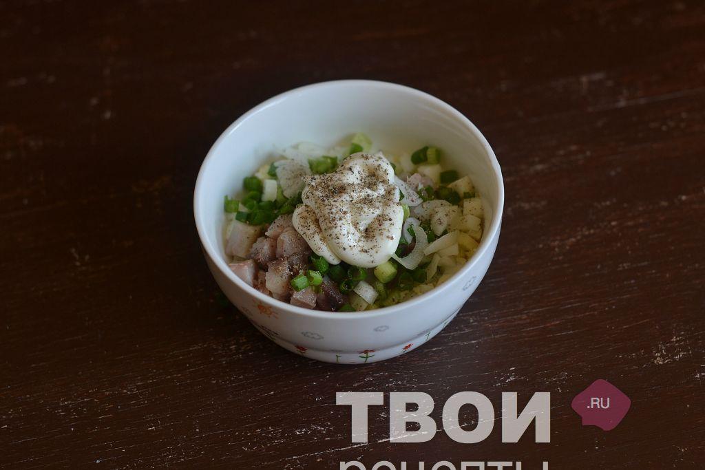 Салат с сельдью с пошаговым фото