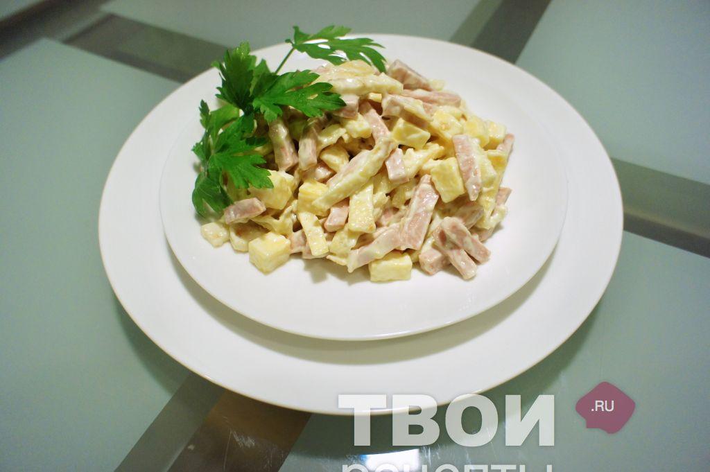Салат из вареной колбасы рецепты