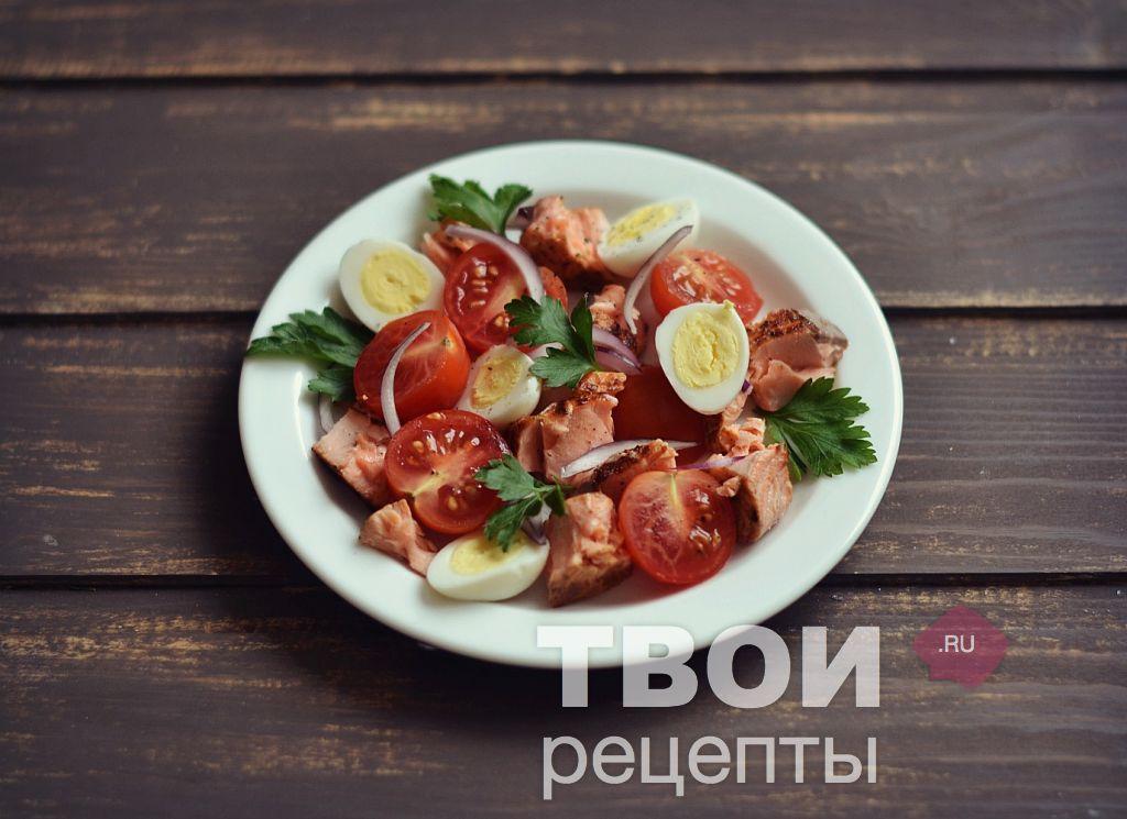 рецепт салат греческий с семгой рецепт