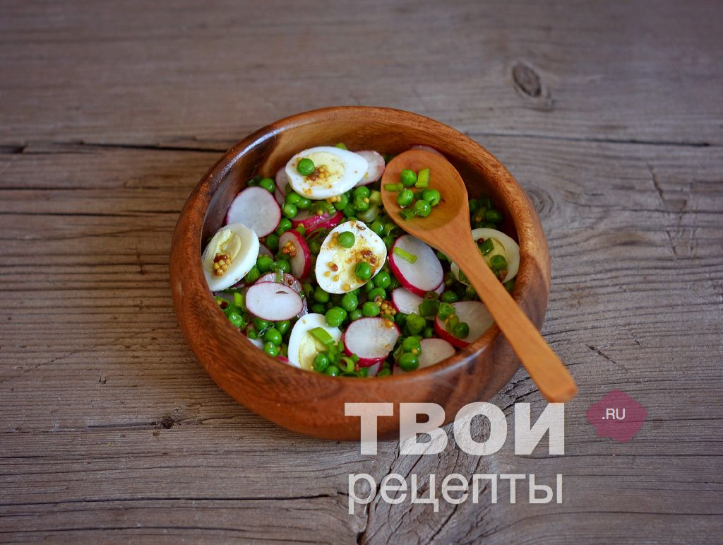 Салаты с сыром и яйцом рецепты зеленым горошком