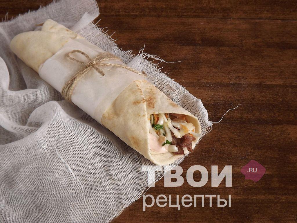 Рецепт шаурмы с сосиской в домашних условиях