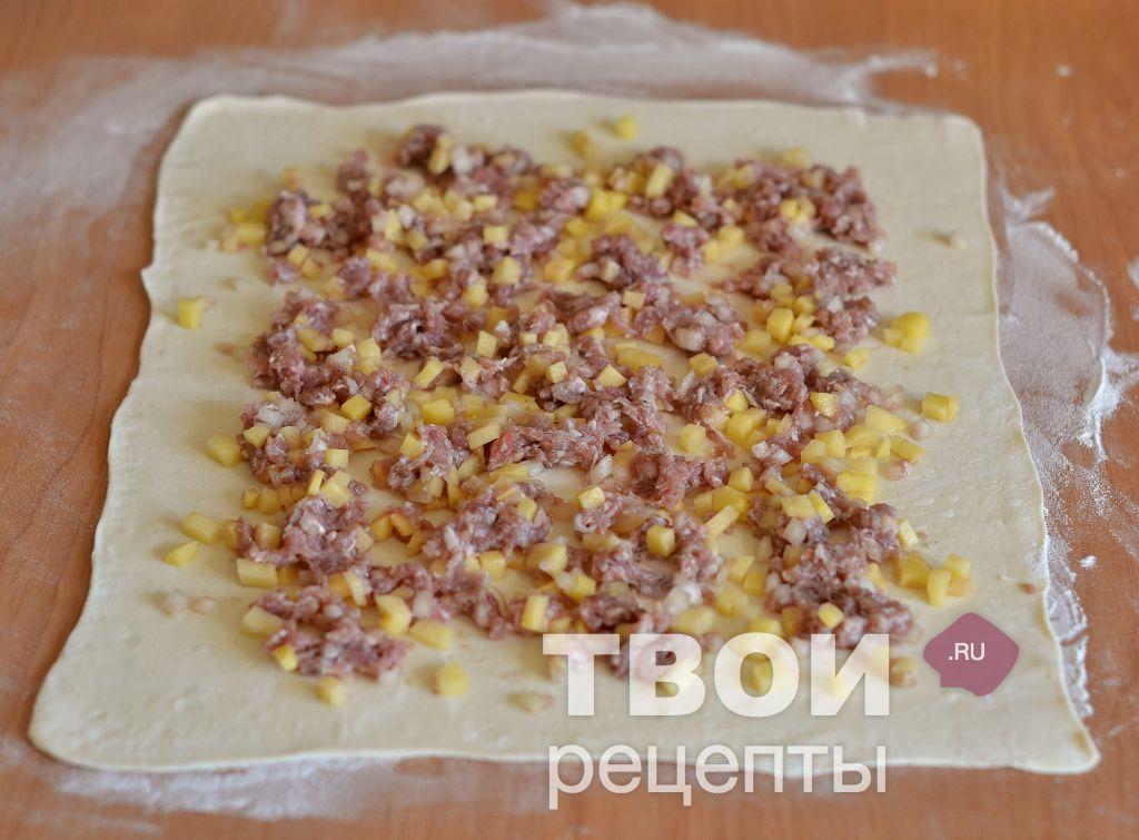 Штрудели с фаршем и картошкой рецепт