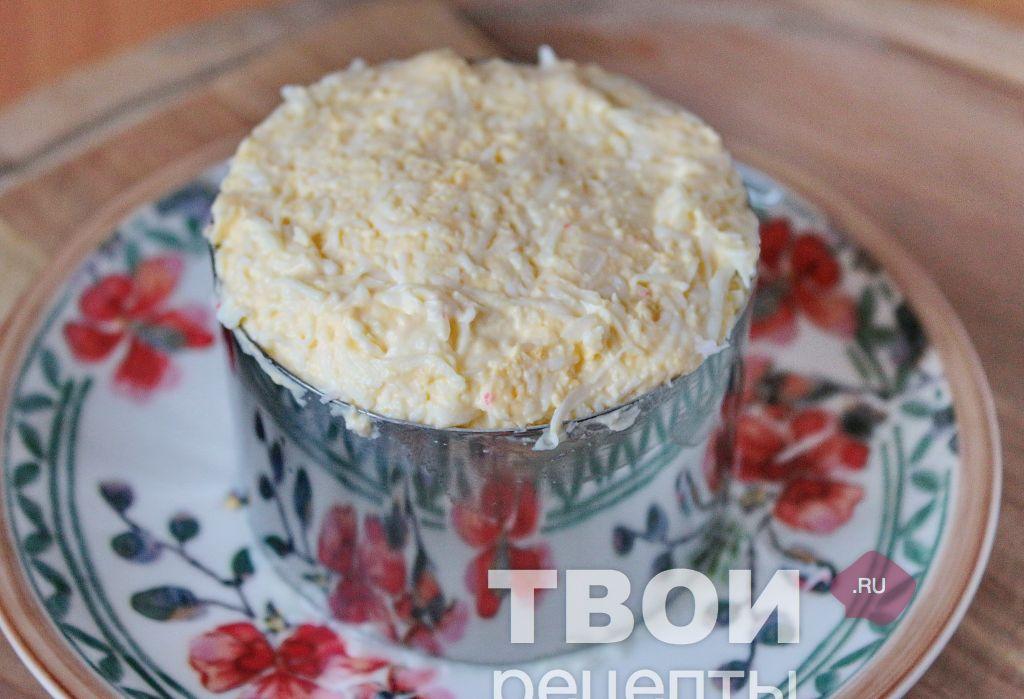 Салат крабовая слойка рецепт