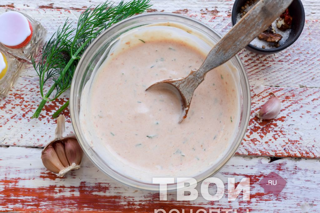 Как сделать соус для шаурмы густым