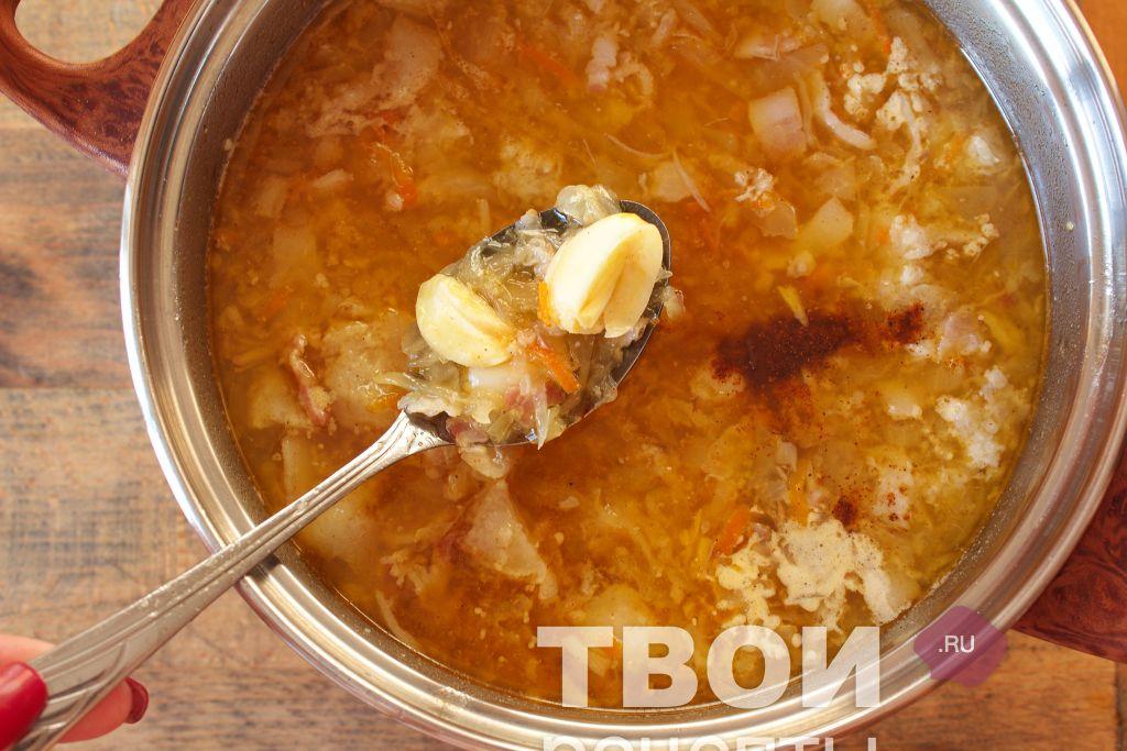Варят суп при температуре