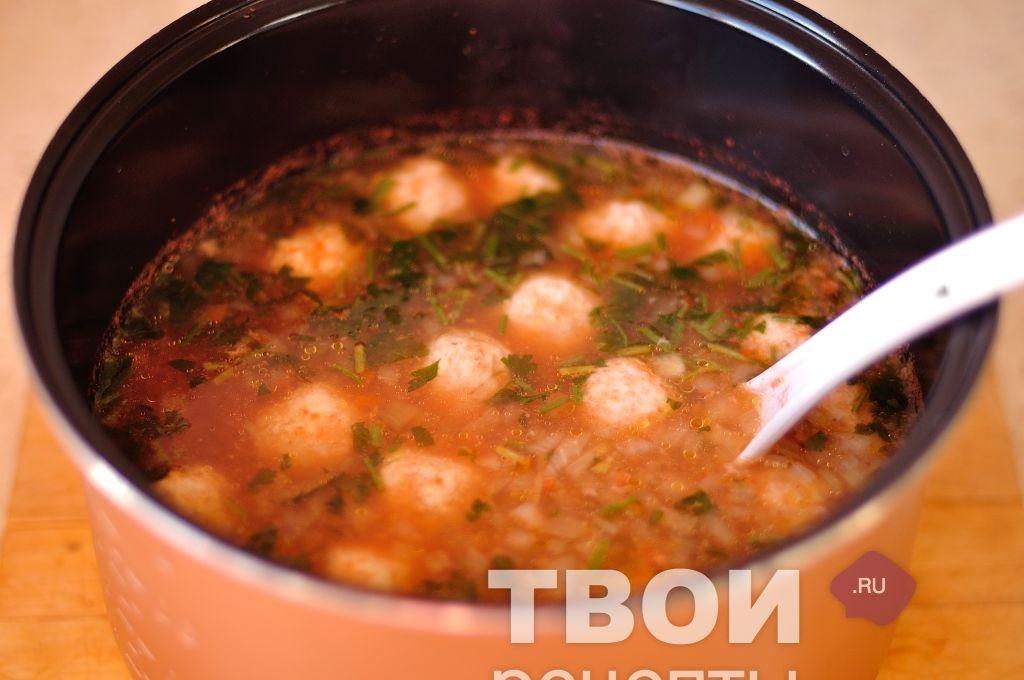Суп с фрикадельками с томатной пастой рецепт
