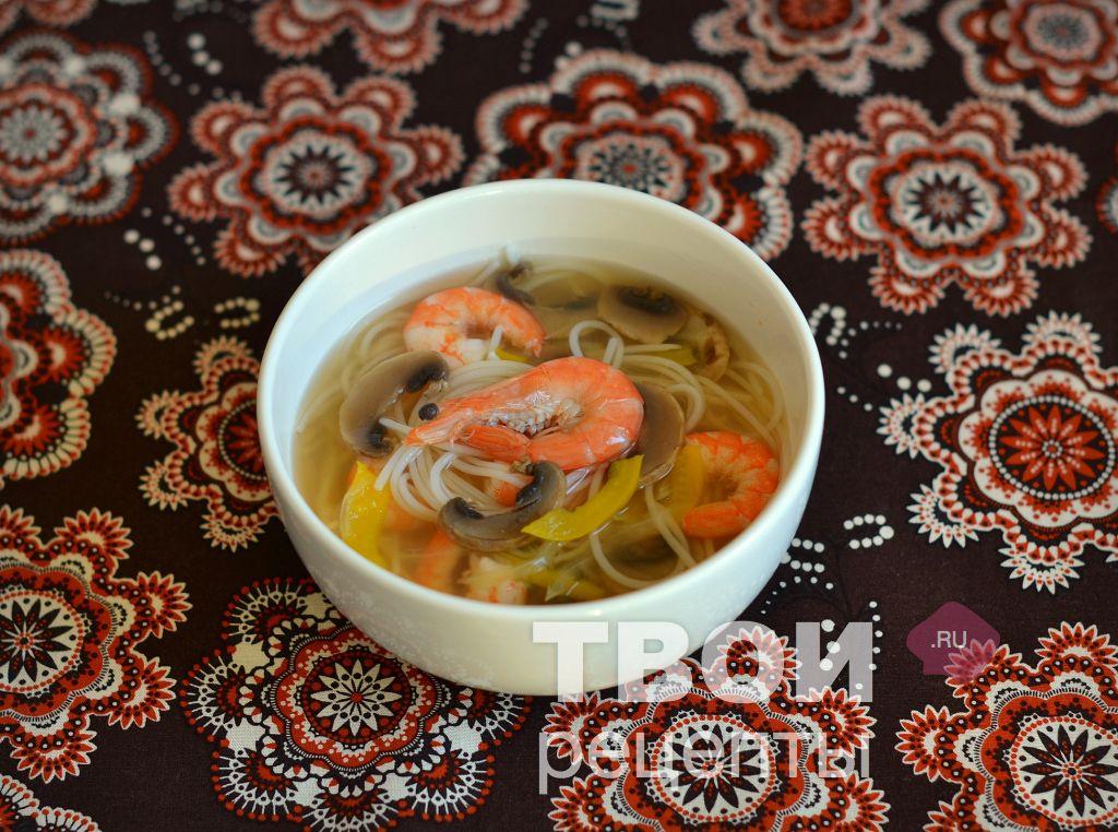 вкусный суп с креветками рецепт с фото