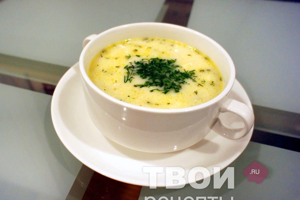 крем суп из шампиньонов и плавленого сыра рецепт