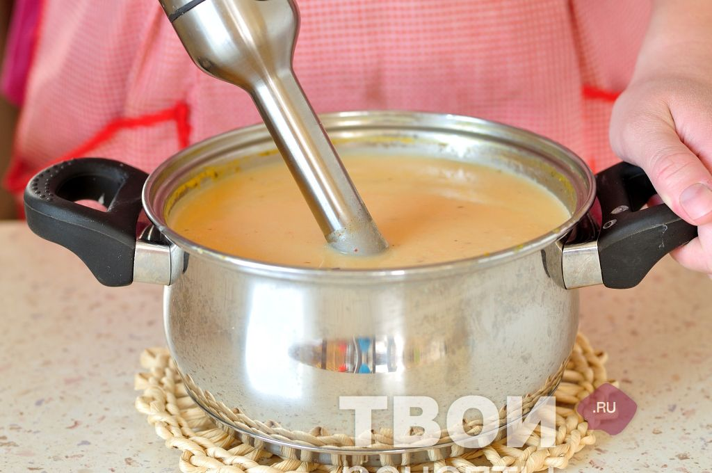 Сырный суп с пошаговым фото