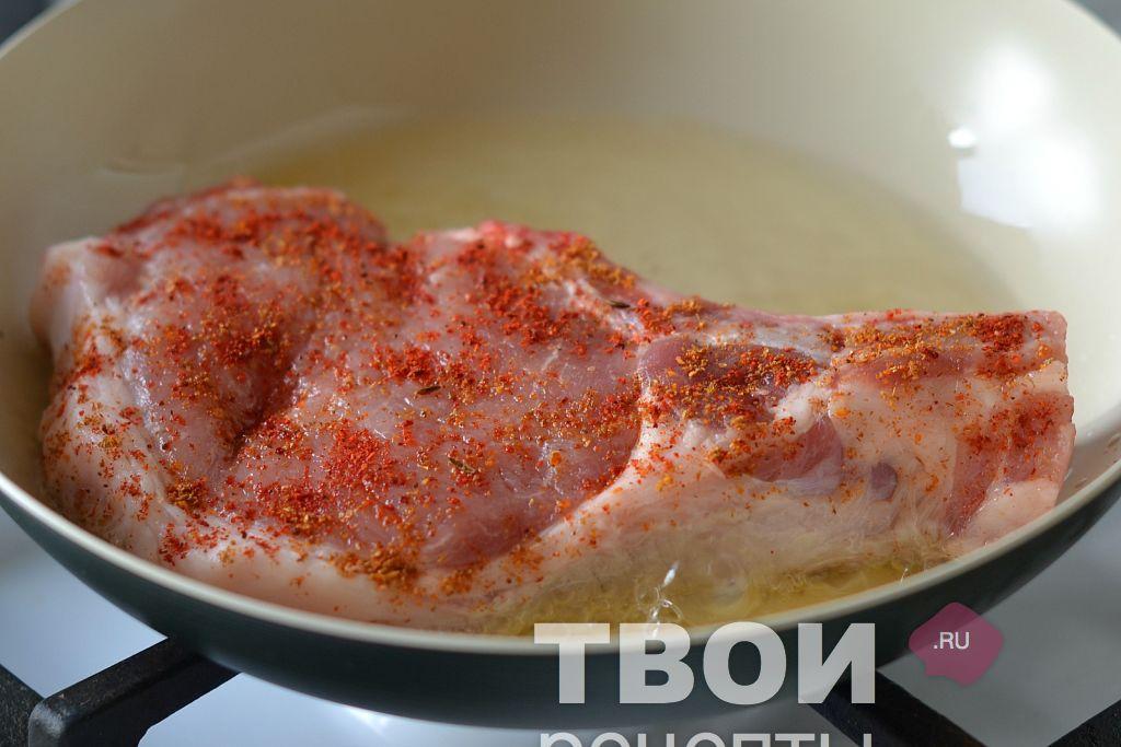 Свинина на сковороде рецепт с фото пошагово