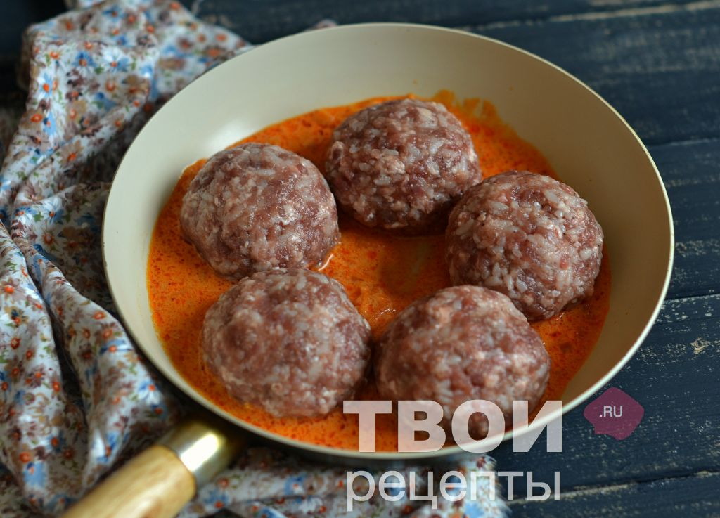 Рецепт тефтелей на сковороде с пошагово