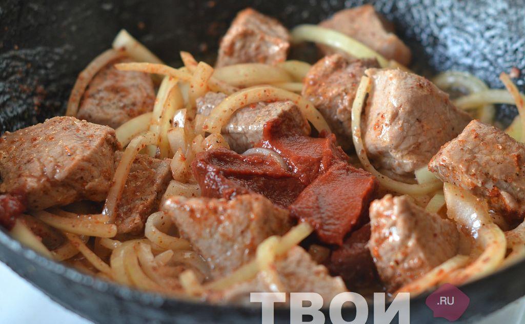 Мясо по-венгерски рецепт пошагово