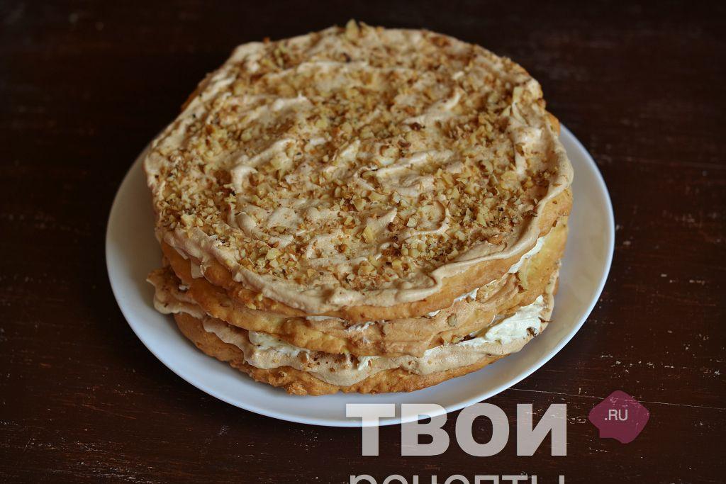 Торт мишка на севере с вареной сгущенкой