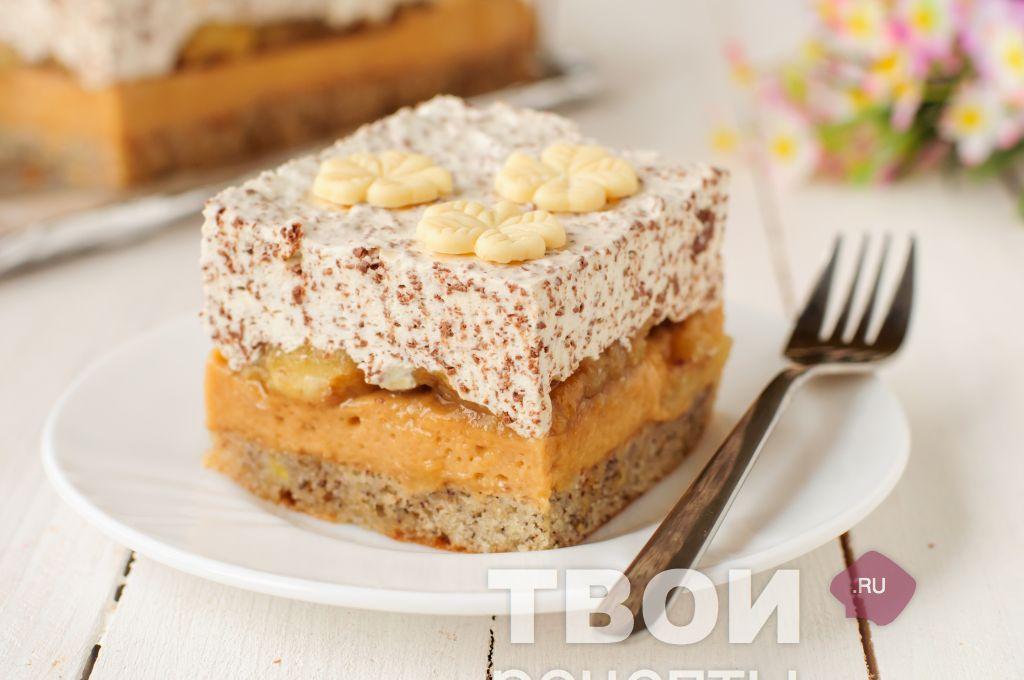 карамельный торт с бананами рецепт с фото