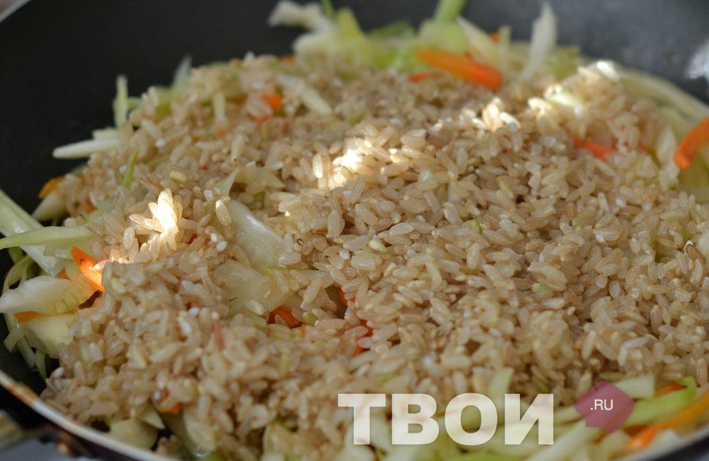 Капуста с рисом рецепт с пошагово