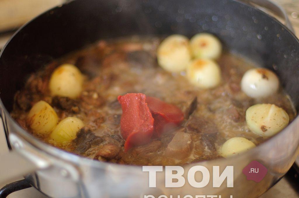 Тушёная курица с грибами рецепт