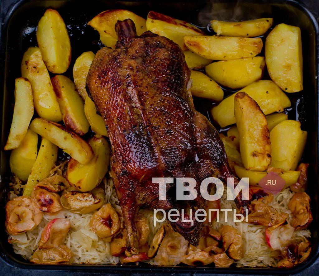 рецепт запеченной утки в духовке картошкой