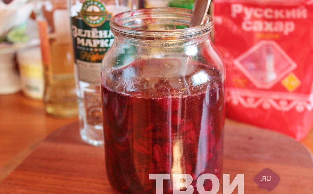 Как сделать вишнёвую на водке