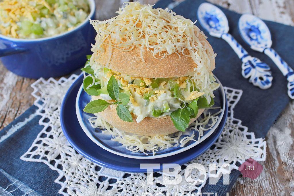 Яичный салат с фото
