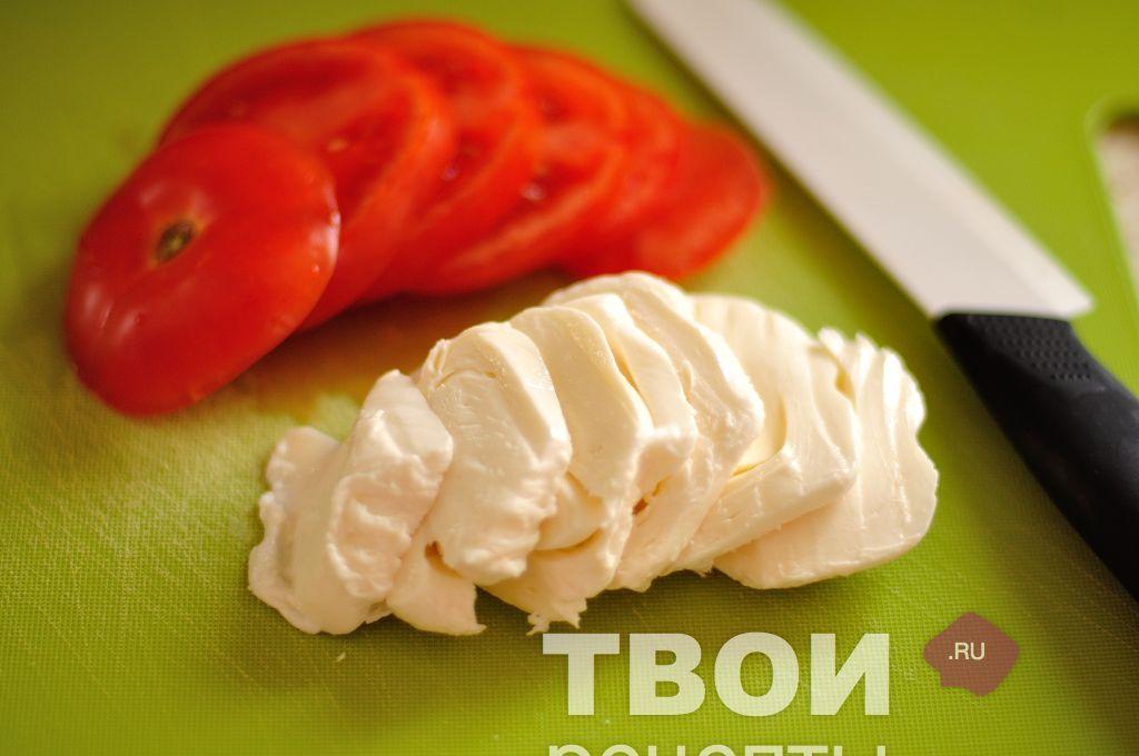 Помидоры с сыром моцарелла рецепт с пошагово