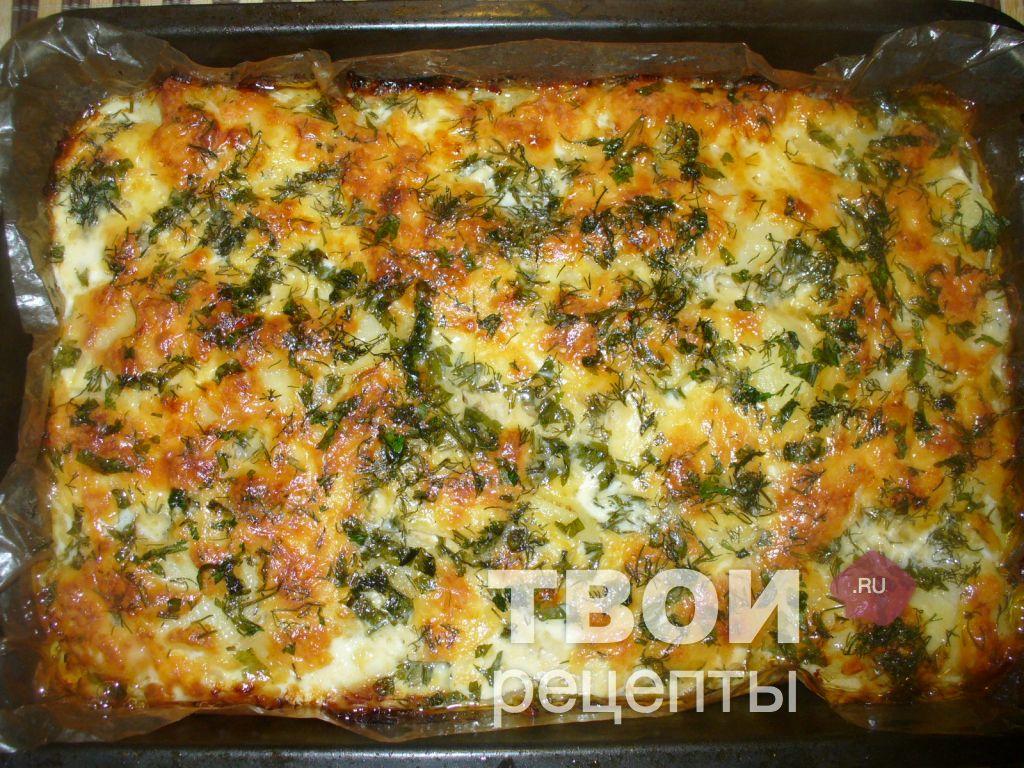 Запеканка из сырой тертой картошки с фаршем в духовке рецепт