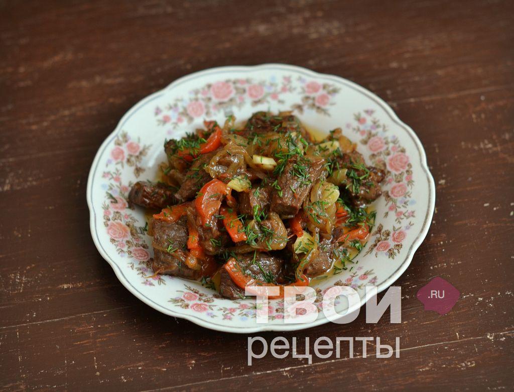 Жареное мясо в сковороде рецепт пошаговый