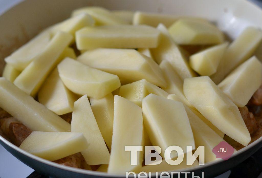 Картошка с мясом с пошаговым 81