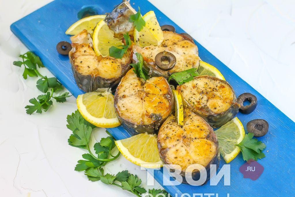 как запечь скумбрию с картошкой в духовке рецепт