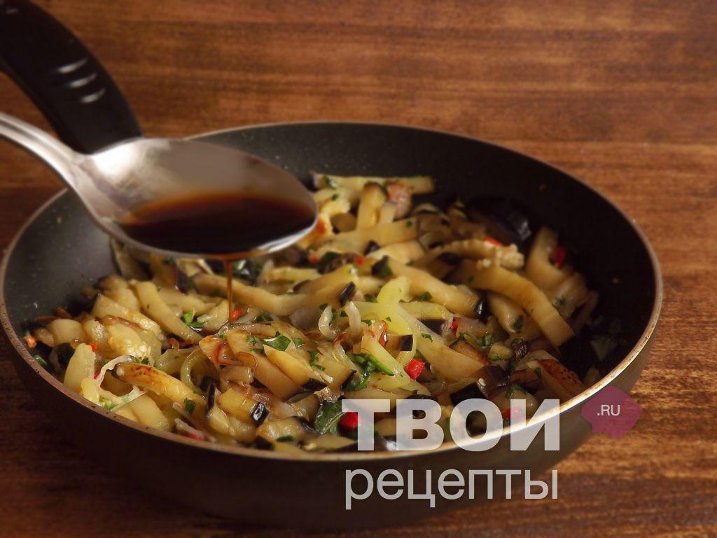 Жареные баклажаны по корейски рецепт