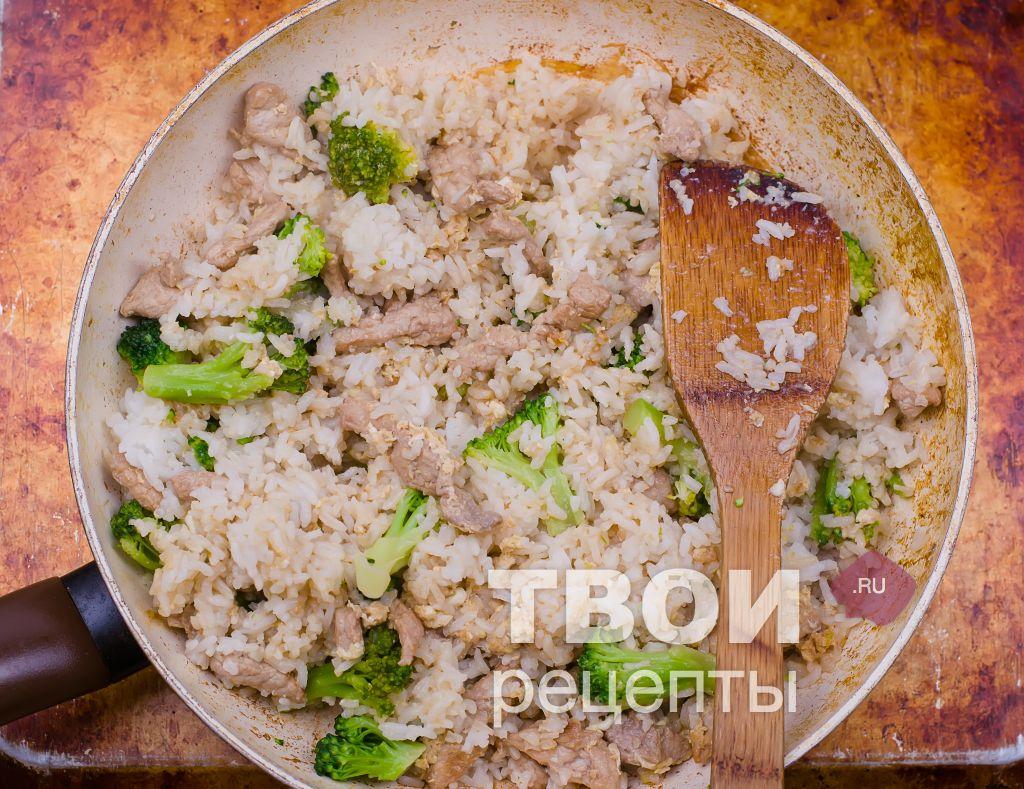Жареный рис рецепт пошагово
