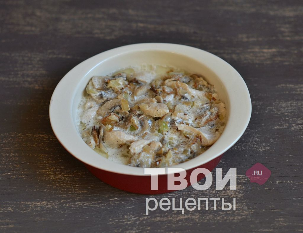 Рецепт жульен с грибами рецепт пошагово