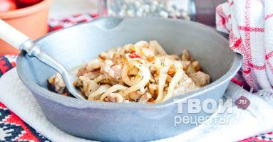 Блюда из фарша мясного рецепты на сковороде
