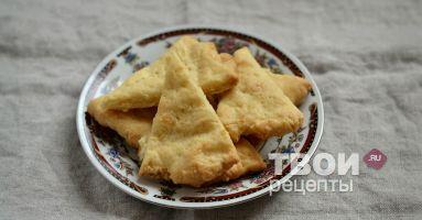 Сырные треугольники - вкусный рецепт с пошаговым фото