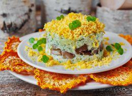 Вкусные слоёные салаты рецепты
